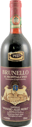 Poggio alle Mura Brunello di Montalcino 1977