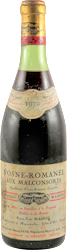 Chateau Masson (Pierre Yves Masson ) - Aux Malconsorts Vosne Romanee 1970