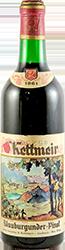 G. Kettmeir Blauburgunder 1961