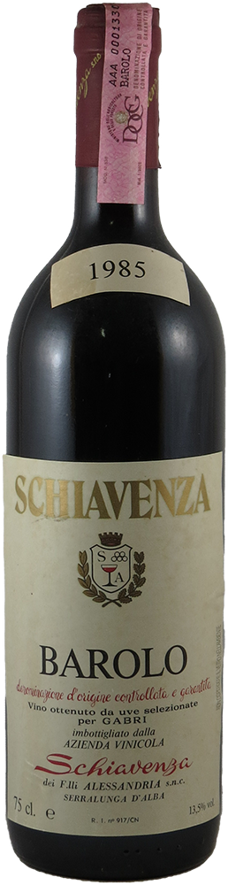 Schiavenza Barolo 1985