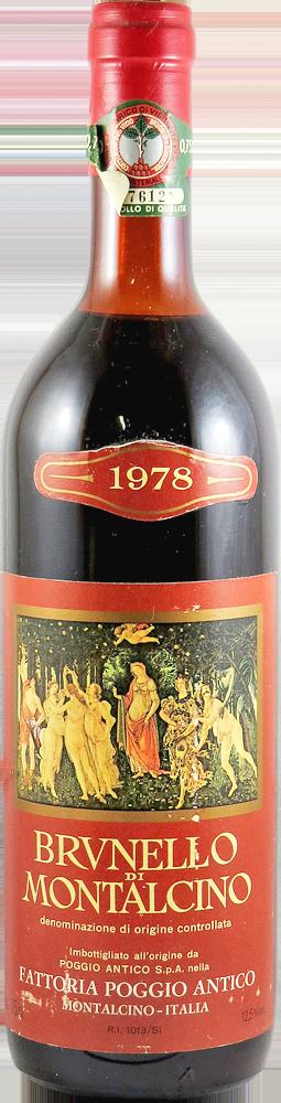 Fattoria Poggio Antico Brunello di Montalcino 1978