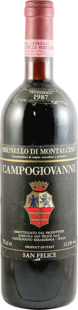 Campogiovanni - San Felice Brunello di Montalcino 1987