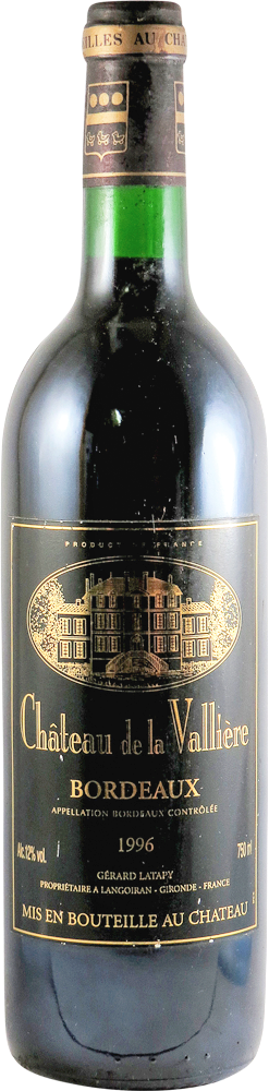 Chateau de la Valliere Bordeaux 1996
