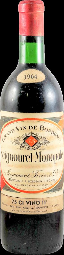 Seignouret Monopole Bordeaux 1964