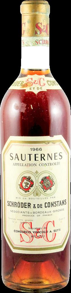 Schroder & De Constans Sauternes 1966