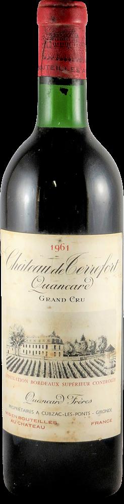 Quancard - Chateau de Terrefort Bordeaux 1961