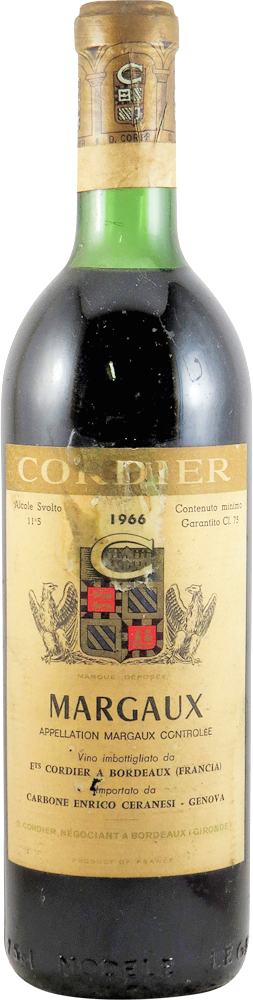 Cordier Bordeaux - Margaux 1966