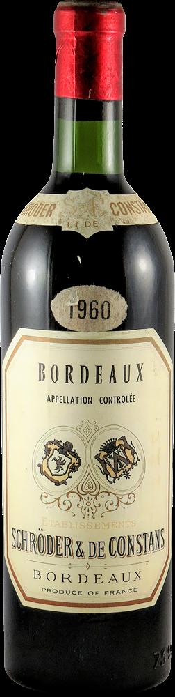 Schroder & de Constans Bordeaux 1960