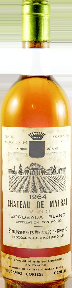 Chateau de Malbat Bordeaux Blanc 1964