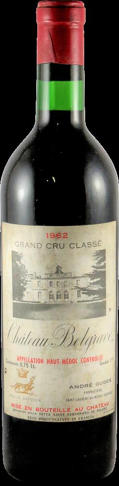 Chateau Belgrave Bordeaux - Haut Medoc 1962