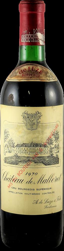 Chateau de Malleret Bordeaux - Haut Medoc 1970
