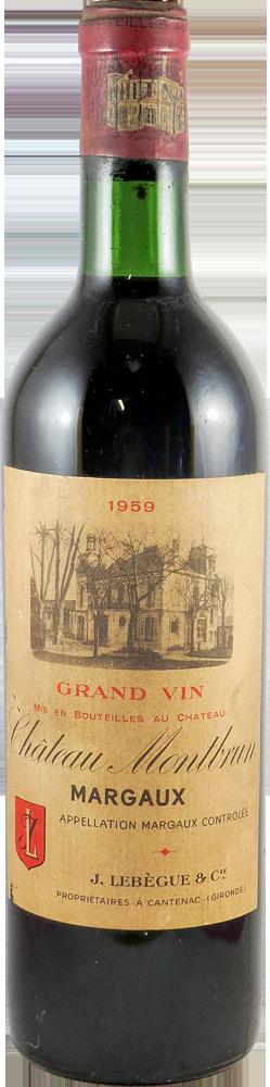 Chateau Montbrun Bordeaux - Margaux 1959