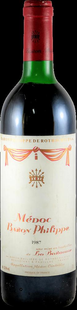 Baron Philippe Bordeaux - Medoc 1987