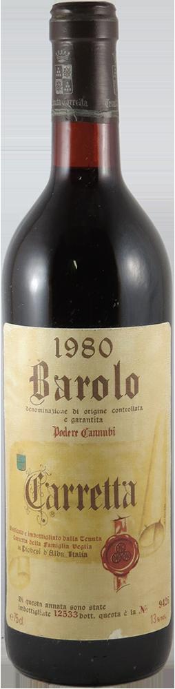 Carretta - Cannubbi Barolo 1980