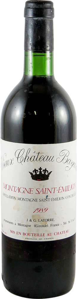 Chateau Bayard Bordeaux - Montagne Saint Emilion 1989