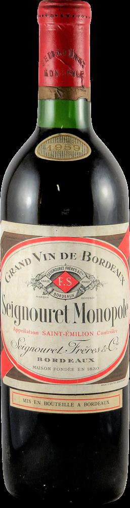 Seignouret Freres Bordeaux - Saint Emilion 1959