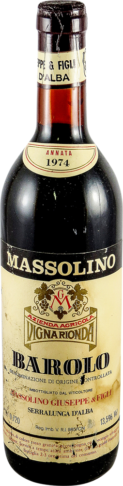 Massolino Giuseppe - Vigna Rionda Barolo 1974