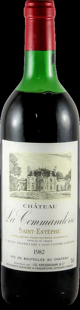 Chateau La Commanderie Bordeaux - Saint Estephe 1982
