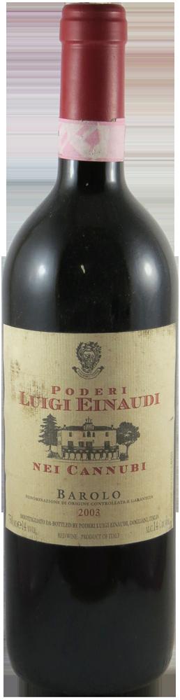 Poderi di Luigi Einaudi Barolo 2003