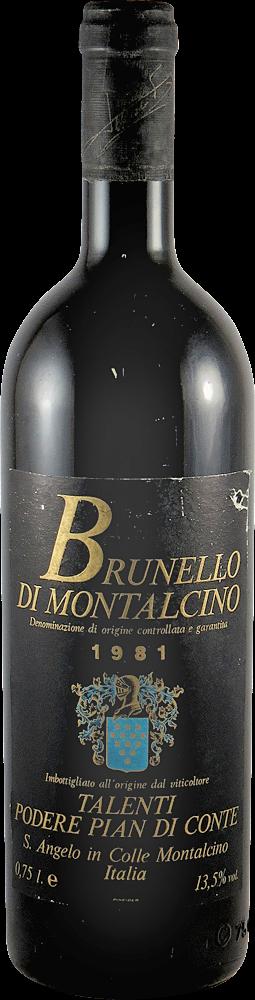 Poderi Pian di Corte - Talenti Brunello di Montalcino 1981