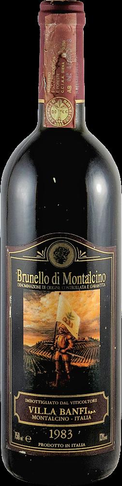 Villa Banfi Brunello di Montalcino 1983