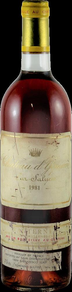 Chateau d'Yquem Sauternes 1981