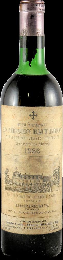 Chateau La Mission Haut Brion Bordeaux - Graves 1966