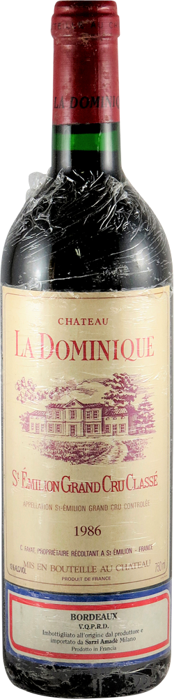 Chateau La Dominique Bordeaux - Saint Emilion 1986