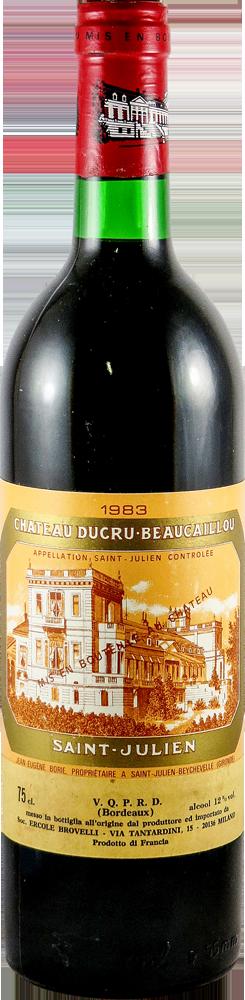 Chateau Ducru Beaucaillon Bordeaux - Saint Julien 1983