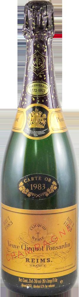 Carte d'Or - Veuve Cliquot Champagne 1983