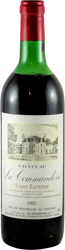Chateau La Commanderie Bordeaux - Saint Estephe 1982