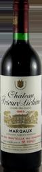 Chateau Prieure – Lichine Bordeaux – Margaux 1983